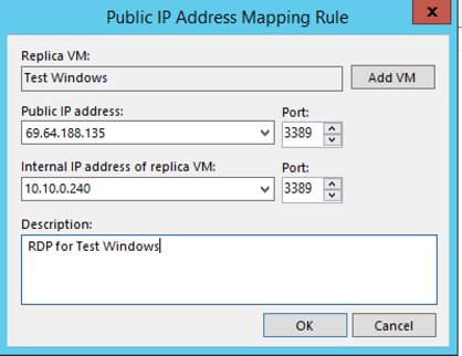 NAT Rule configuration in the failover plan