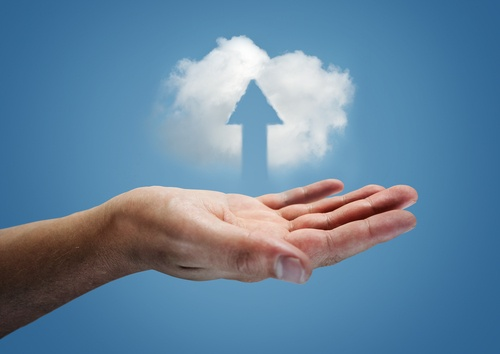 Cloud above hand