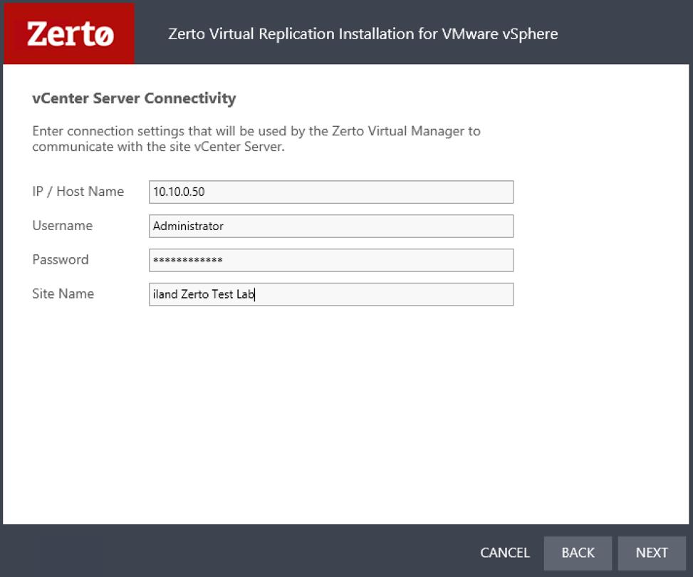 zerto_installation_connectivity